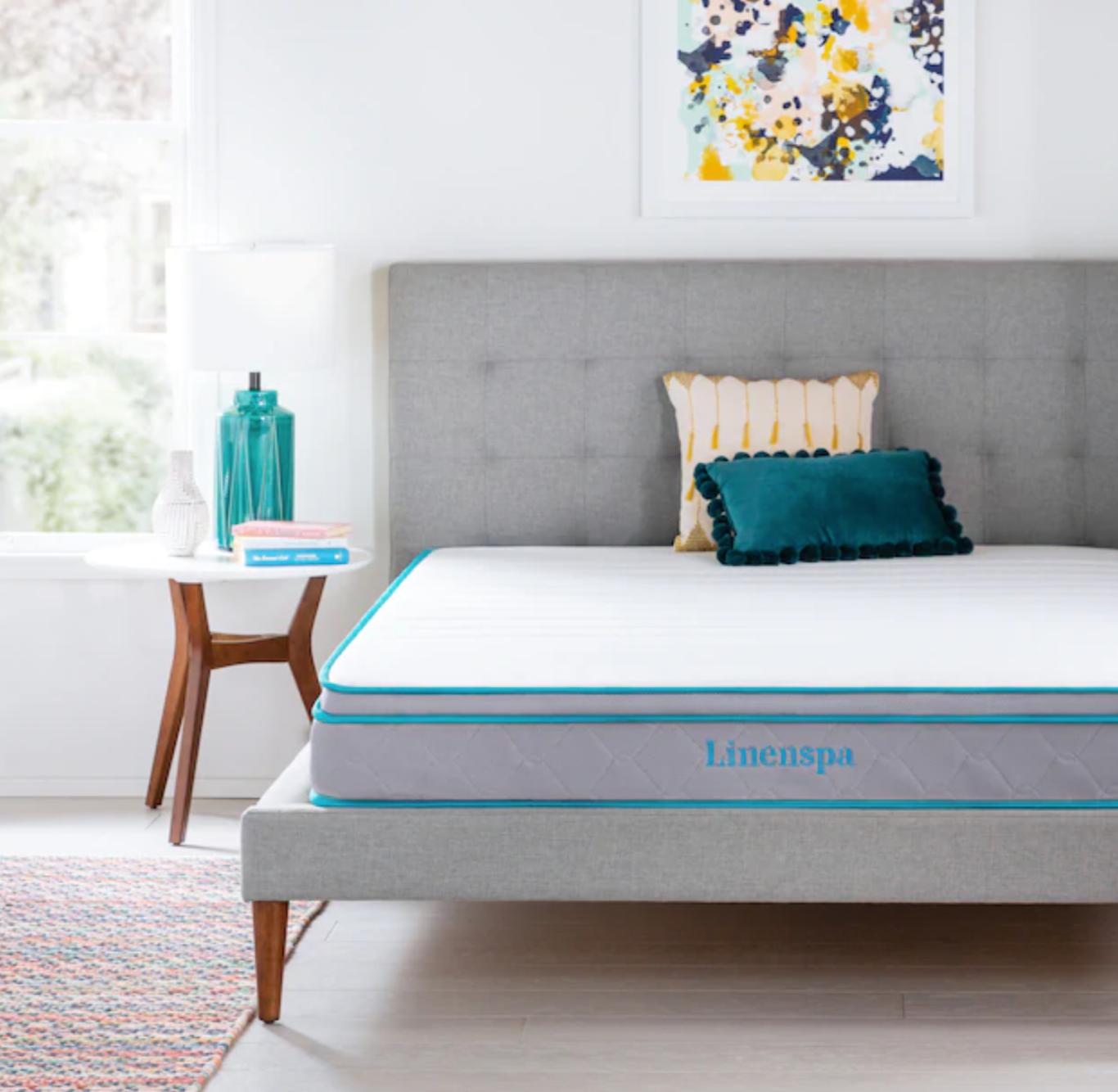 Mercury Row Alrai Upholstered Panel Bed Queen