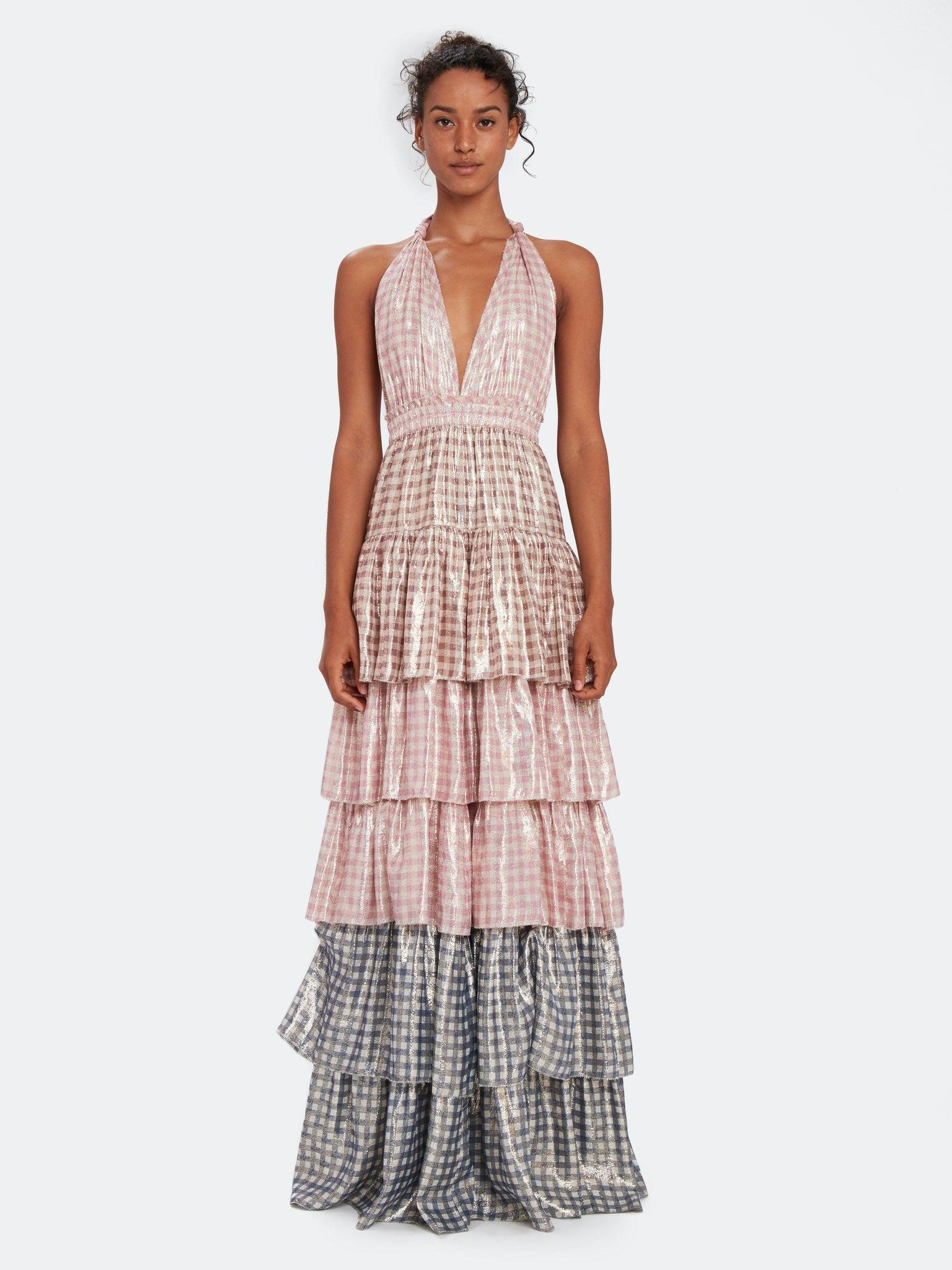 LoveShackFancy Clarissa Ruffle Maxi Dress