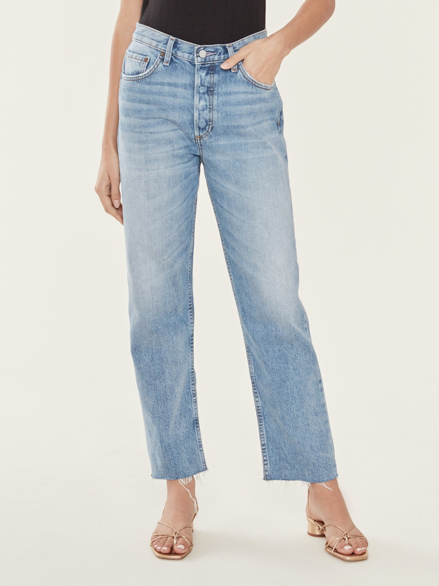 BOYISH JEANS Tommy High Rise Straight Jeans