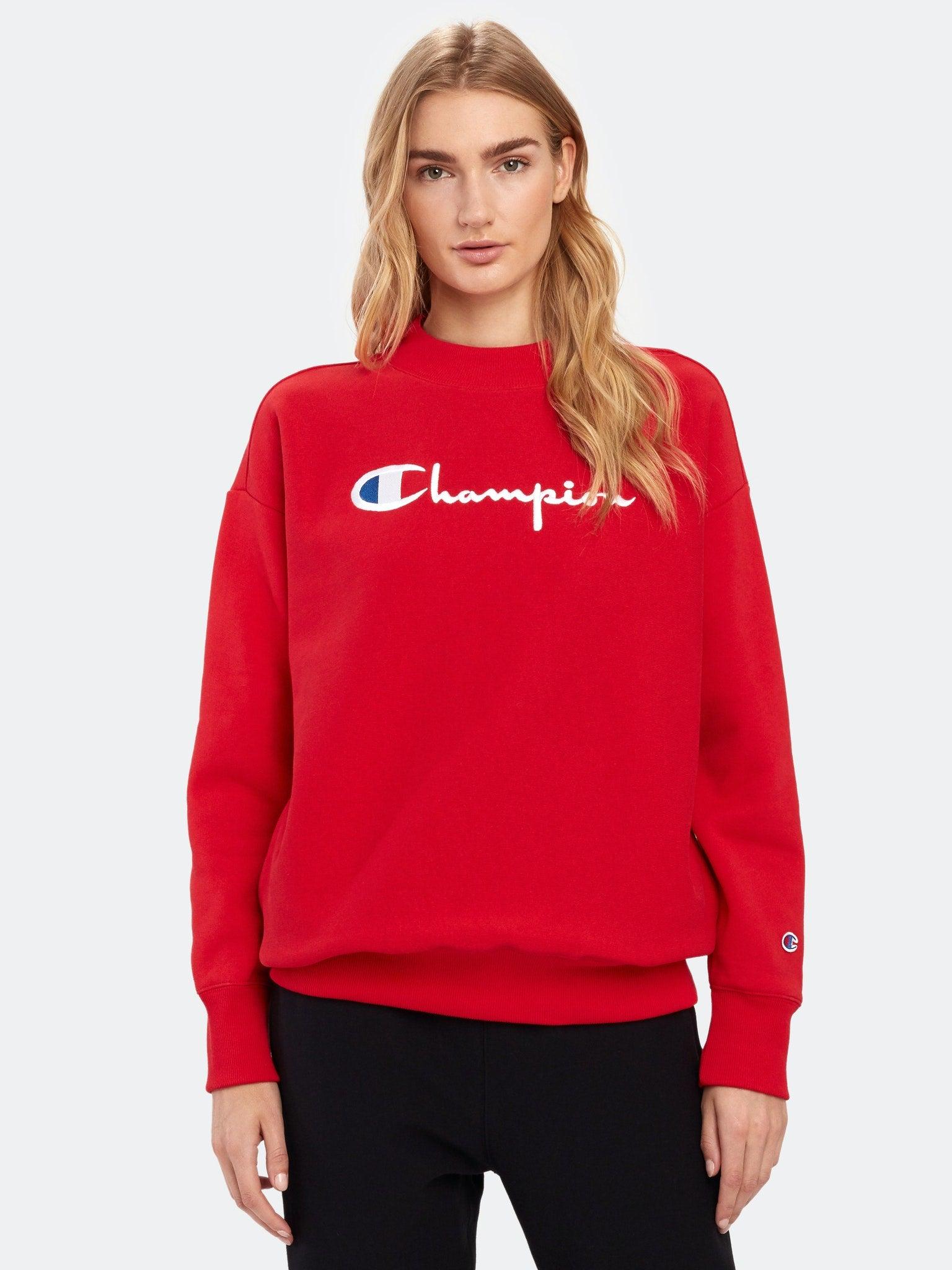 Champion Big Script Oversized Crewneck Sweatshirt