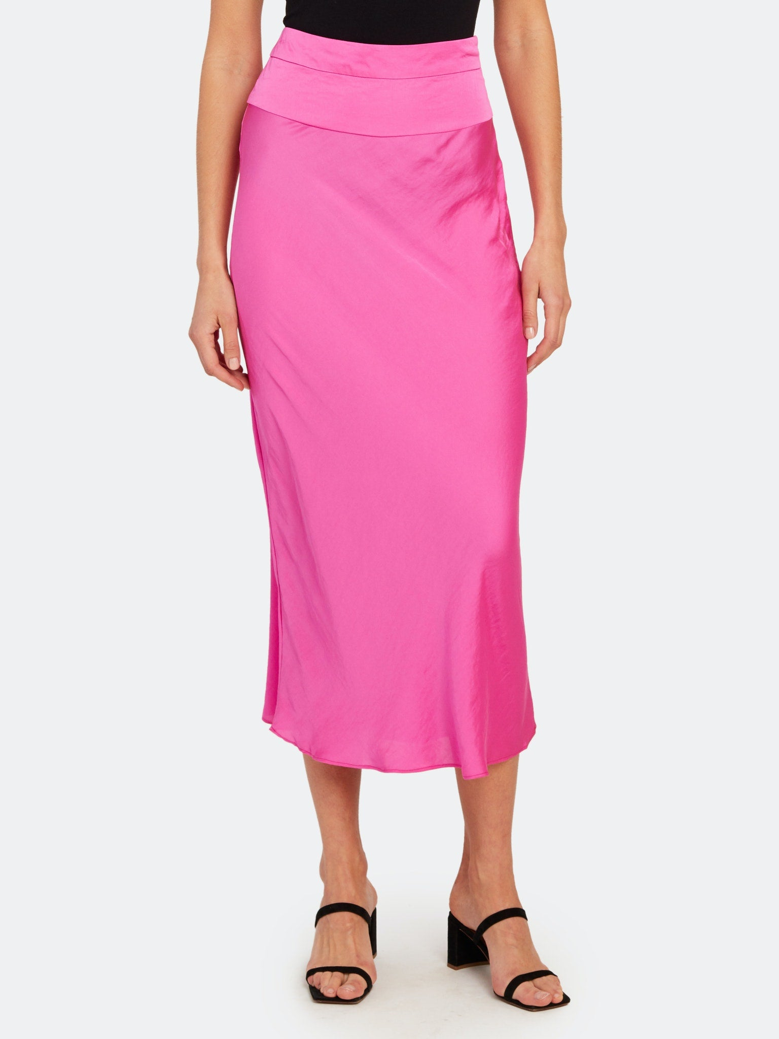 Free People Normani Bias Midi Skirt