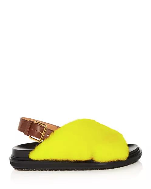 Fussbett Shearling Slingback Sandals