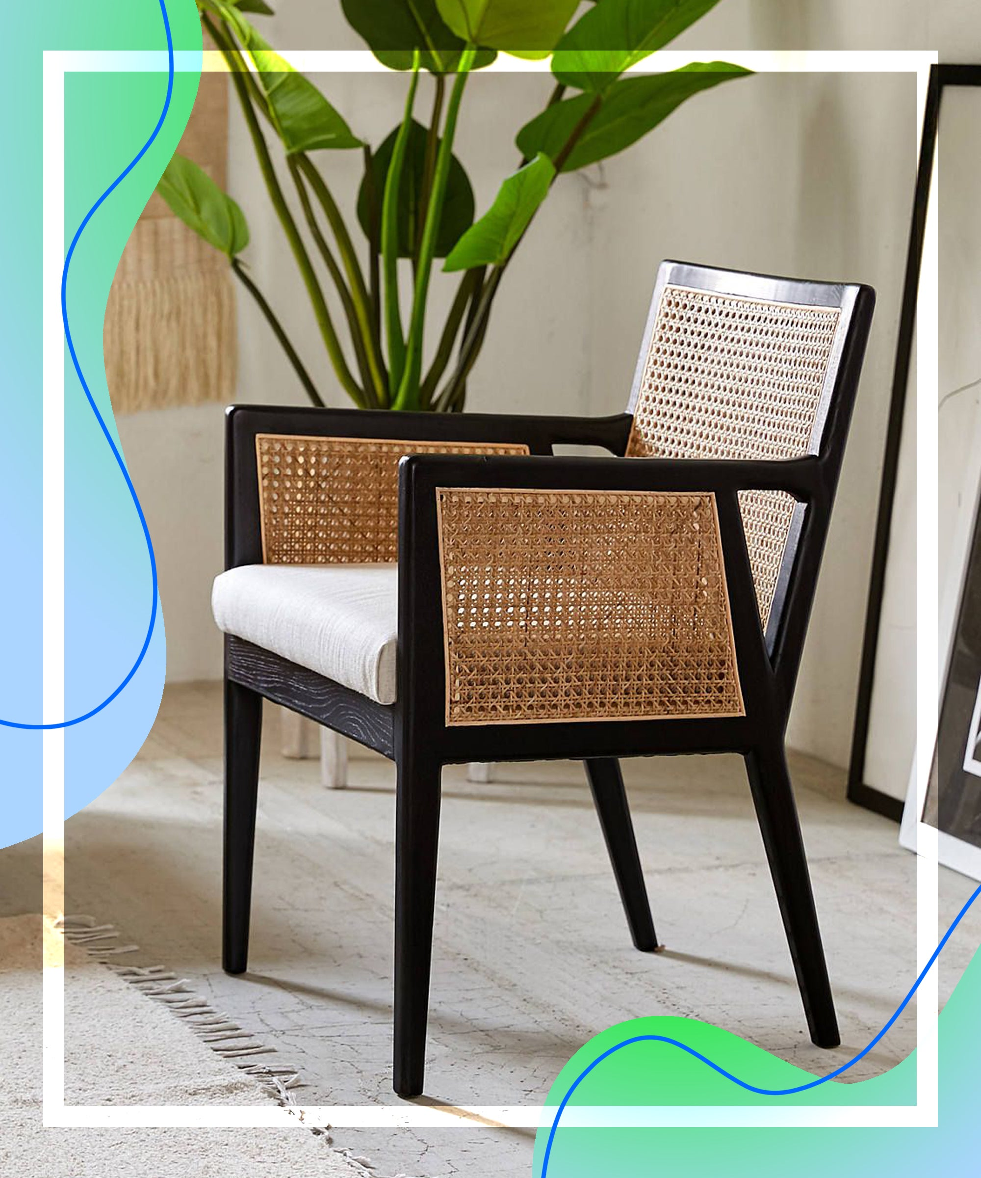 Where To Buy Cane Woven Chairs Mid Century Trend