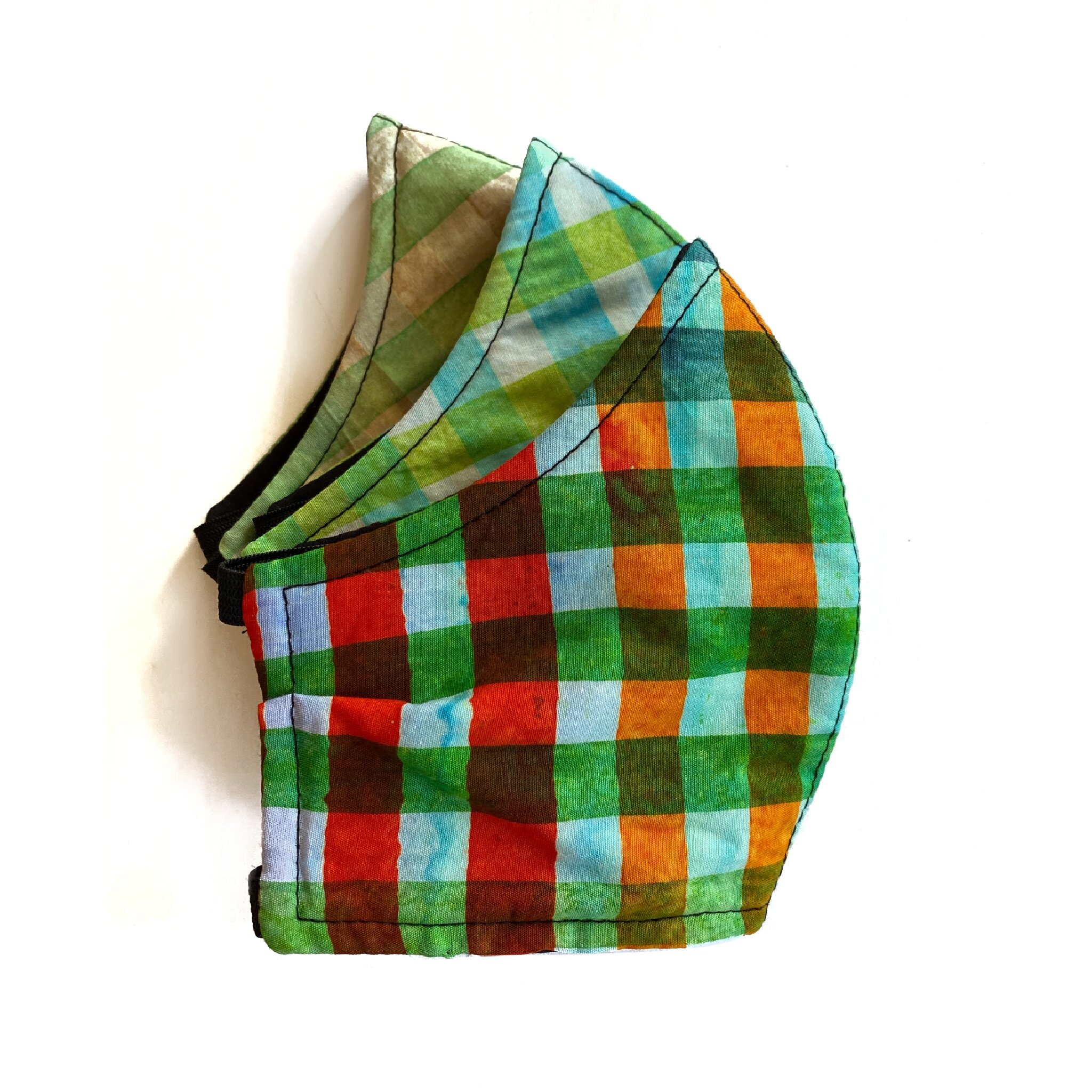 Watercolor Gingham Face Mask